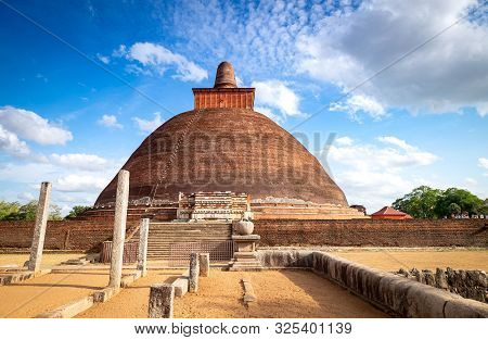 Jetavana Dagoba Is One Of The Central Landmarks In The Sacred World Heritage City Of Anuradhapura,