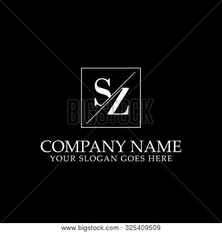 Sz Initial Logo Designs, Letters Logo Inspirations, Initial Name Logo Template