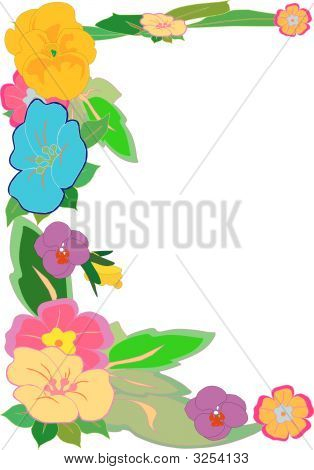 Tropical Floral Border