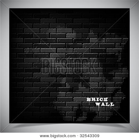 Brick wall, vector