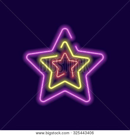 Star Icon Neon Glow Effect, Star Icon Gold Eps10, Star Icon Glow Vector, Star Icon Eps, Star Icon Ne