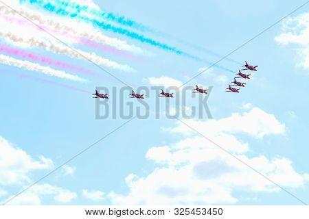 The Royal Air Force Aerobatic Team Arrows During The Miramar Air Show