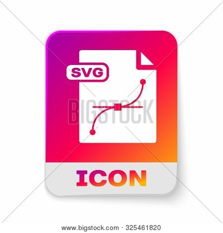 White Svg File Document. Download Svg Button Icon Isolated On White Background. Svg File Symbol. Rec