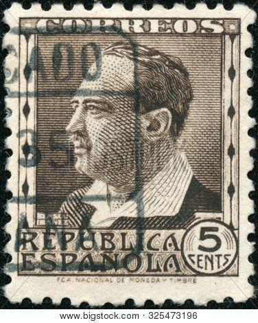 Vintage Stamp Printed In Spain 1934 Shows Vincente Ibanez