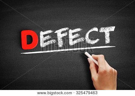 Defect Text On Blackboard, Business Concept Background