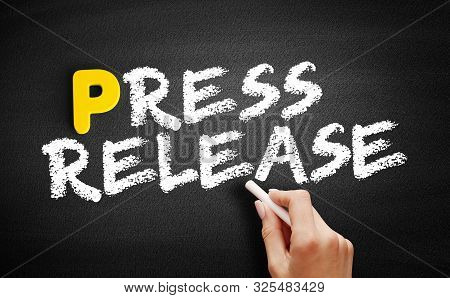 Press Release Text On Blackboard, Concept Background