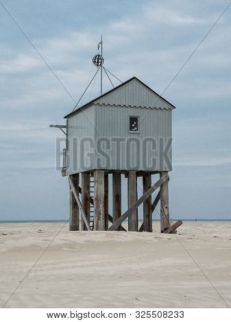 Emergency Shelter On The Beach Of Terschelling, Netherlands