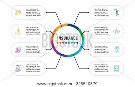 Insurance Infographics Vector Design. Timeline Concept Include Medical Insurance, Accident Insurance