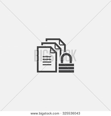 Confidential Information Base Icon. Simple Sign Illustration. Confidential Information Symbol Design
