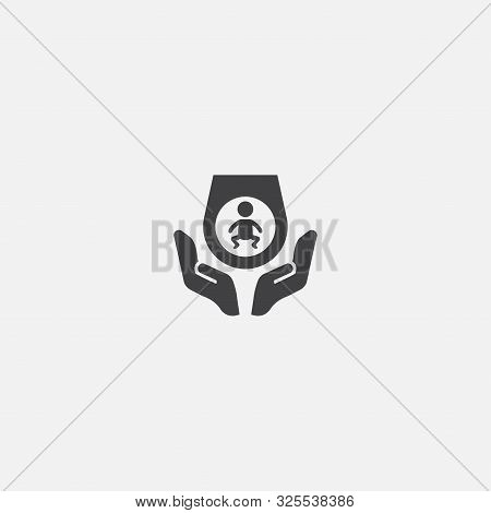 Prenatal Care Base Icon. Simple Sign Illustration. Prenatal Care Symbol Design. Can Be Used For Web