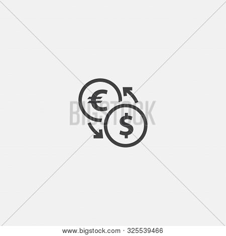 Currency Converter Base Icon. Simple Sign Illustration. Currency Converter Symbol Design. Can Be Use