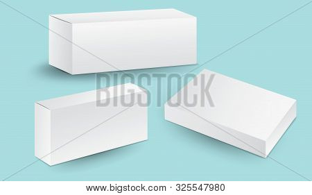 White Package Box Vector, Package Design, 3d Box, Product Design, Realistic Packaging For Cosmetic O
