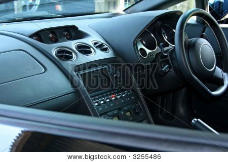 Looking In Passenger Car Window At Dashboard