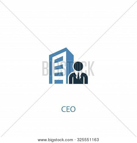 Ceo Concept 2 Colored Icon. Simple Blue Element Illustration. Ceo Concept Symbol Design. Can Be Used