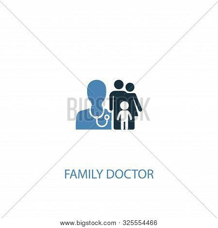 Family Doctor Concept 2 Colored Icon. Simple Blue Element Illustration. Family Doctor Concept Symbol