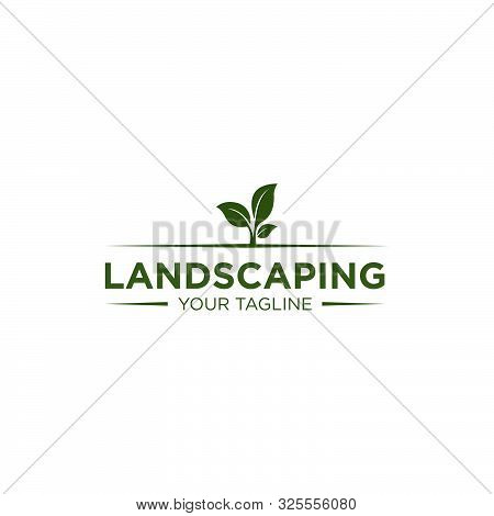 Simple Landscaping Logo Design Template For Your Company