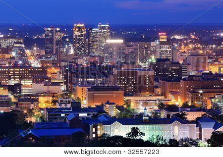 Metropolitan Skyline of downtown Birmingham, Alabama, USA.