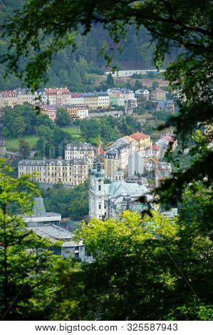 Karlovy Vary. View During The Morning Run