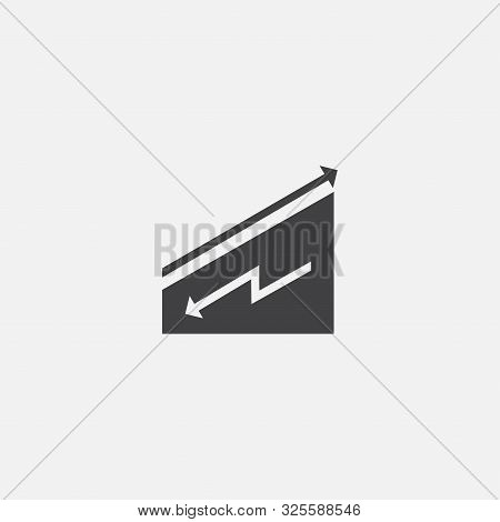 Downtrend Base Icon. Simple Sign Illustration. Downtrend Symbol Design. Can Be Used For Web And Mobi