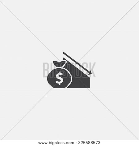 Budget Deficit Base Icon. Simple Sign Illustration. Budget Deficit Symbol Design. Can Be Used For We