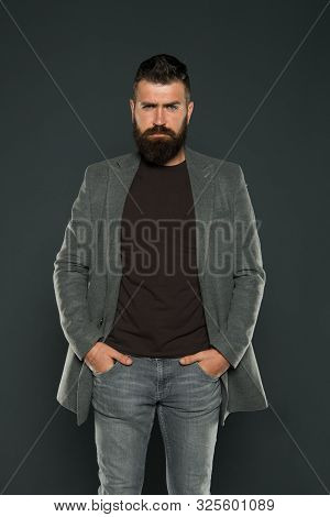 Monochrome Style Outfit. Classy But Modern. Fashion Outfit. Masculine Look. Brutal Hipster Man. Hips