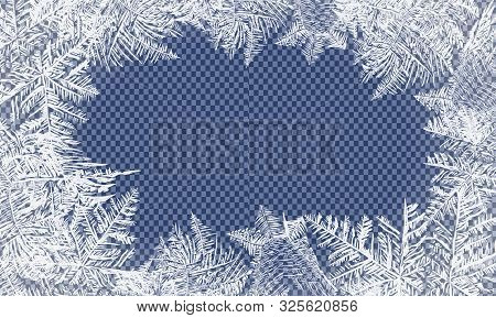 Falling Christmas Snow. Snowflakes Isolated On Transparent Background. Vector Patterns Made By The F