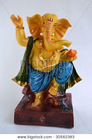 Stone Idol Of Indian God Ganesha