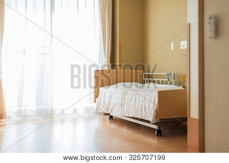 A room in a nursing facility