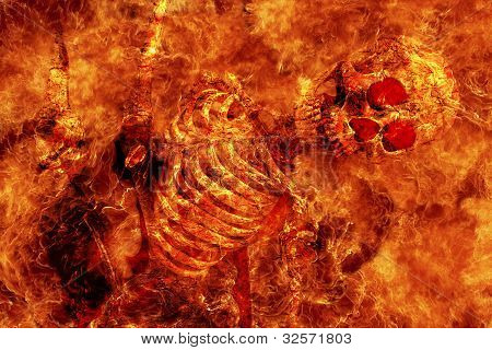 Fire Skeleton