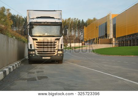 Moscow, Russian Federation: Scania Truck In The Warehouse Complex