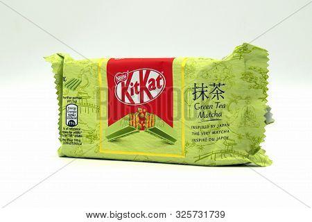 Zaandam, The Netherlands - October 4, 2019: Multi Package Of Kitkat Green Tea Matcha.