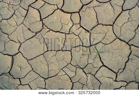Climate Change And Drought Land. Water Crisis. Arid Climate. Crack Soil. Global Warming. Environment