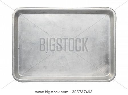 Metal Baking Pan Aluminum Tray (with Clipping Path) Isolated On White Background