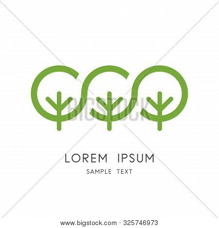 Green Forest Logo - Group Of Trees And Ecosystem Symbol. Nature And Ecology, Garden And Park Vector