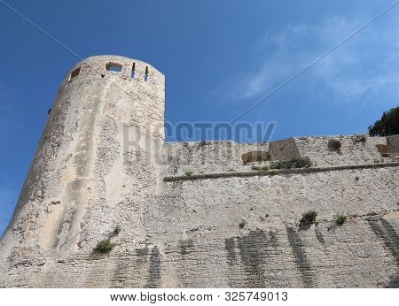 Turret Of The Fortress Of Bonifacio Town In Corsica Island France