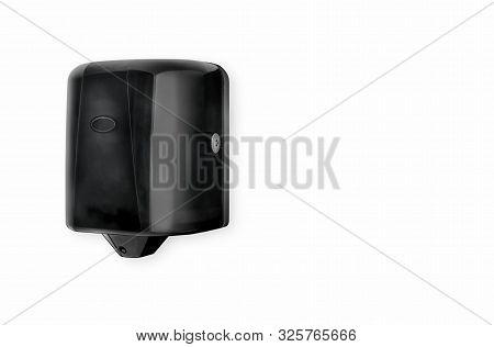 Hand Towel Dispenser Black Centre Pull Plastic Jumbo Paper Towels