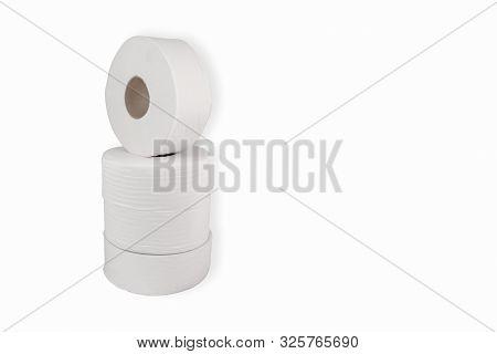 Jumbo Bathroom Tissue 9 Inch Roll For Dispenser White Large Round Soft Ply Unpacked