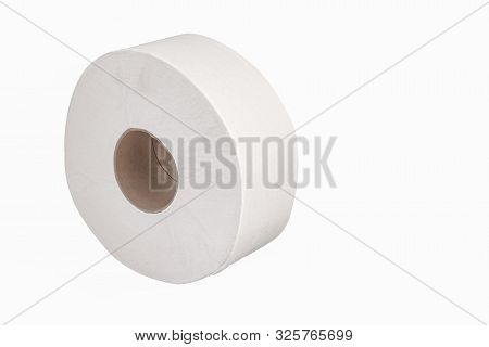 Jumbo Bathroom Tissue 9 Inch Roll For Dispenser White Large Round Soft Ply  Single One