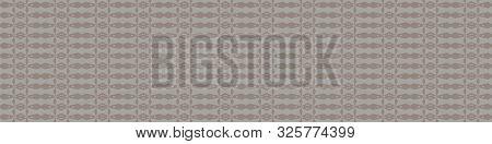 Hand Drawn Tiny Border Seamless Pattern. Modern Japanese Wagara Motif On Homespun Gray. Ecru Simplis