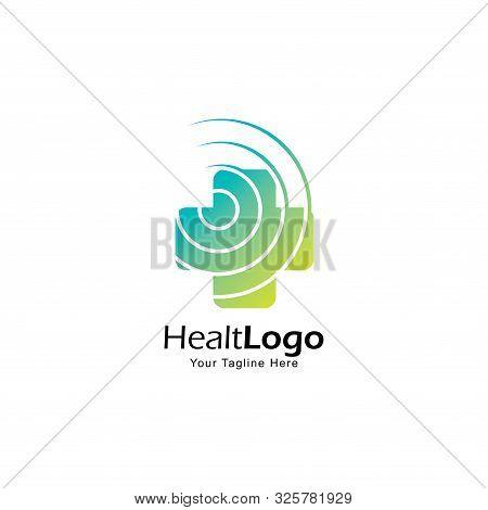 Cross Icon Logo Design Template.creative Cross Symbol For Medical Company
