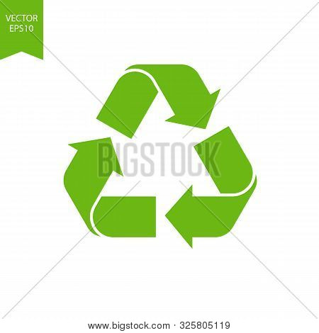 Recycle Eco Symbol, Biodegradable Icon.recycled Cycle Arrows Isolated. Green Renew Environmental Of
