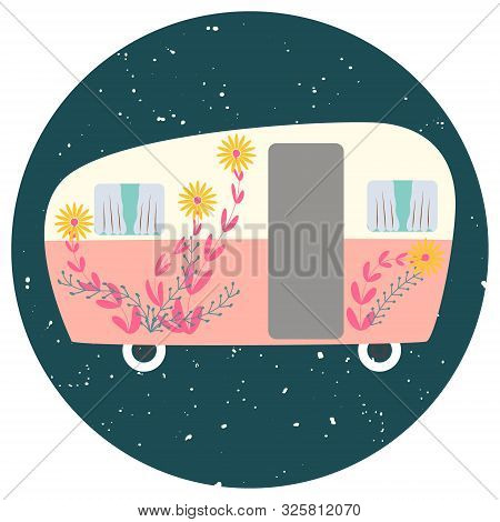 Van Life Cute Camper With Flowers Decor