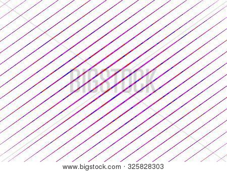 Colorful Slanting, Oblique Parallel Straight Strips, Streaks In Rectangular Format. Diagonal Lines,