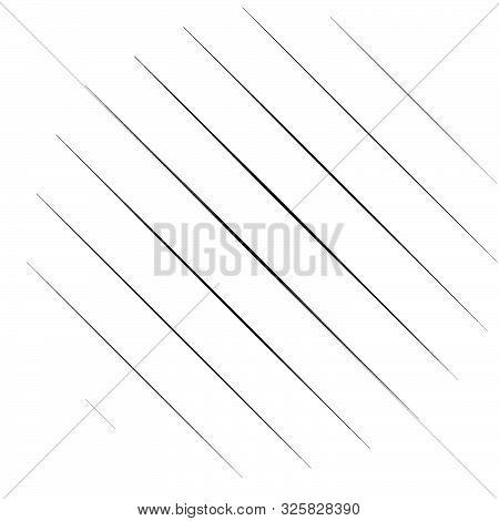 Diagonal, Oblique Lines Abstract Geometric Circle. Slanting, Slope Lines Halftone Circle. Radial, Ci