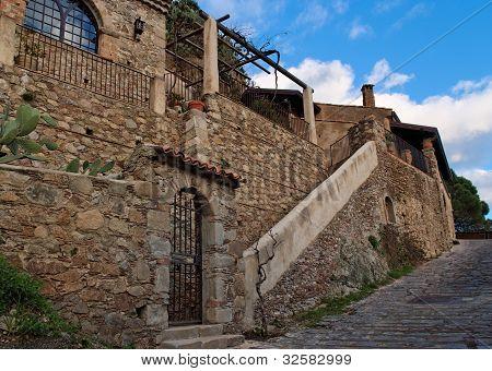 Large Mediterranean house in Savoca village, Sicily, Italy