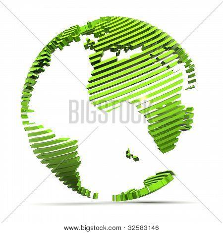 Europe Globe Concept