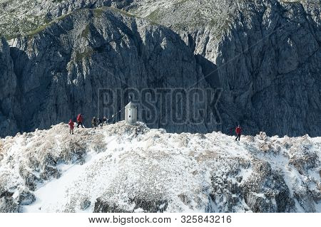 Triglav, Slovenia - August 9, 2008: Aerial View Of Triglav The Highest Peak In Julian Alps In Sloven