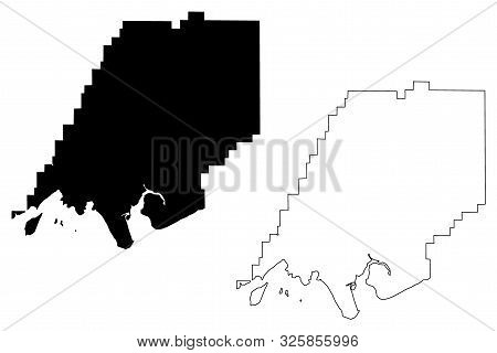 Dillingham Census Area, Alaska (Boroughs and census areas in Alaska, United States of America,USA, U.S., US) map vector illustration, scribble sketch Dillingham map poster