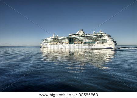 Cruiser on open sea