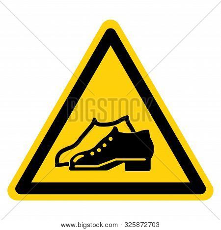 Warning Enclosed Shoes Are Required In The Manufacturing Area Symbol Sign ,vector Illustration, Isol